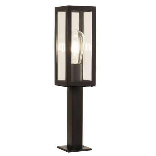 Box Outdoor 1 Light Rectangle Head Post (45Cm Height), Black 6441-450Bk